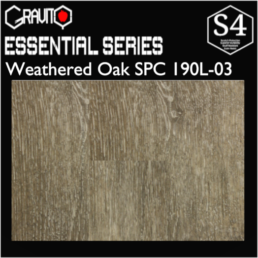 Gravity Weathered Oak SPC 190L-03